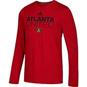 adidas Men's Atlanta United Logo Performance Red Long Sleeve Shirt