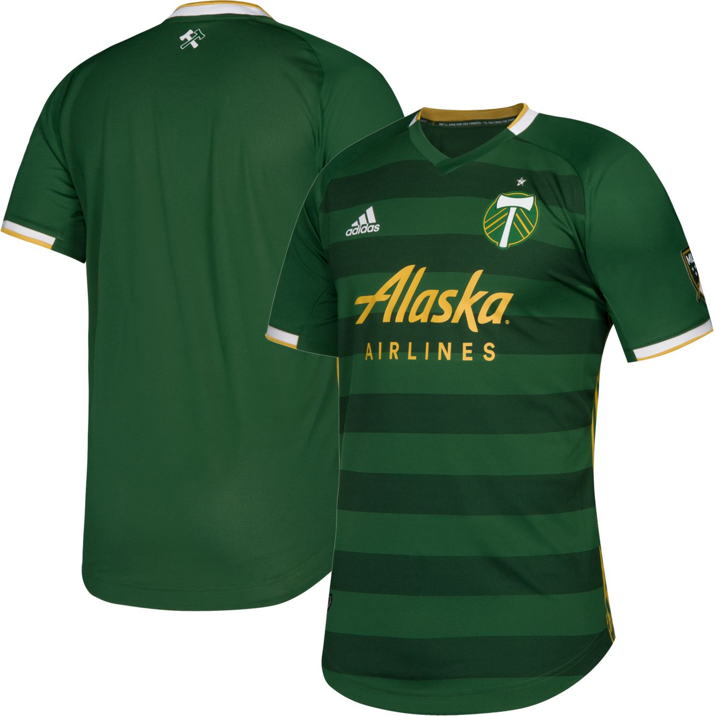 adidas Men's Portland Timbers Primary Authentic Jersey
