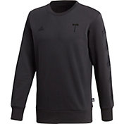 adidas Men's Portland Timbers Tango Black Crew Sweatshirt
