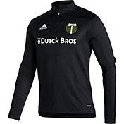 adidas Men's Portland Timbers Black Training Quarter-Zip