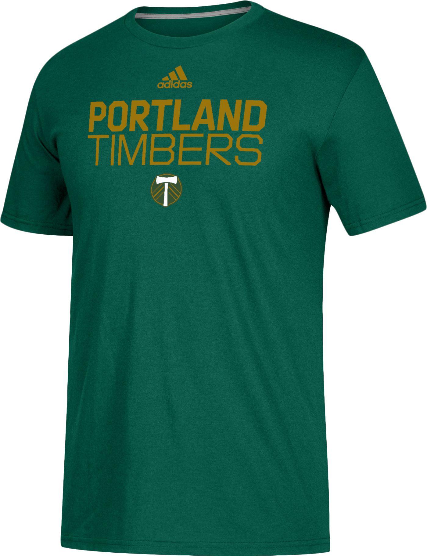 adidas Men's Portland Timbers Logo Green Performance T-Shirt
