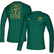 adidas Men's Portland Timbers Iconic Green Long Sleeve Shirt