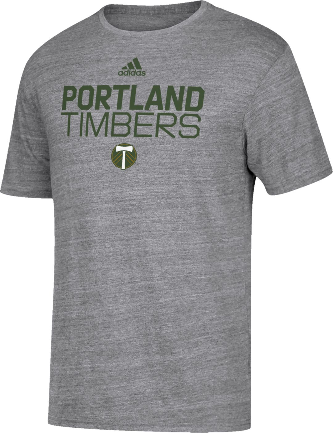 low priced 186a2 5e251 adidas Men's Portland Timbers Locker Heather Grey Tri-Blend T-Shirt