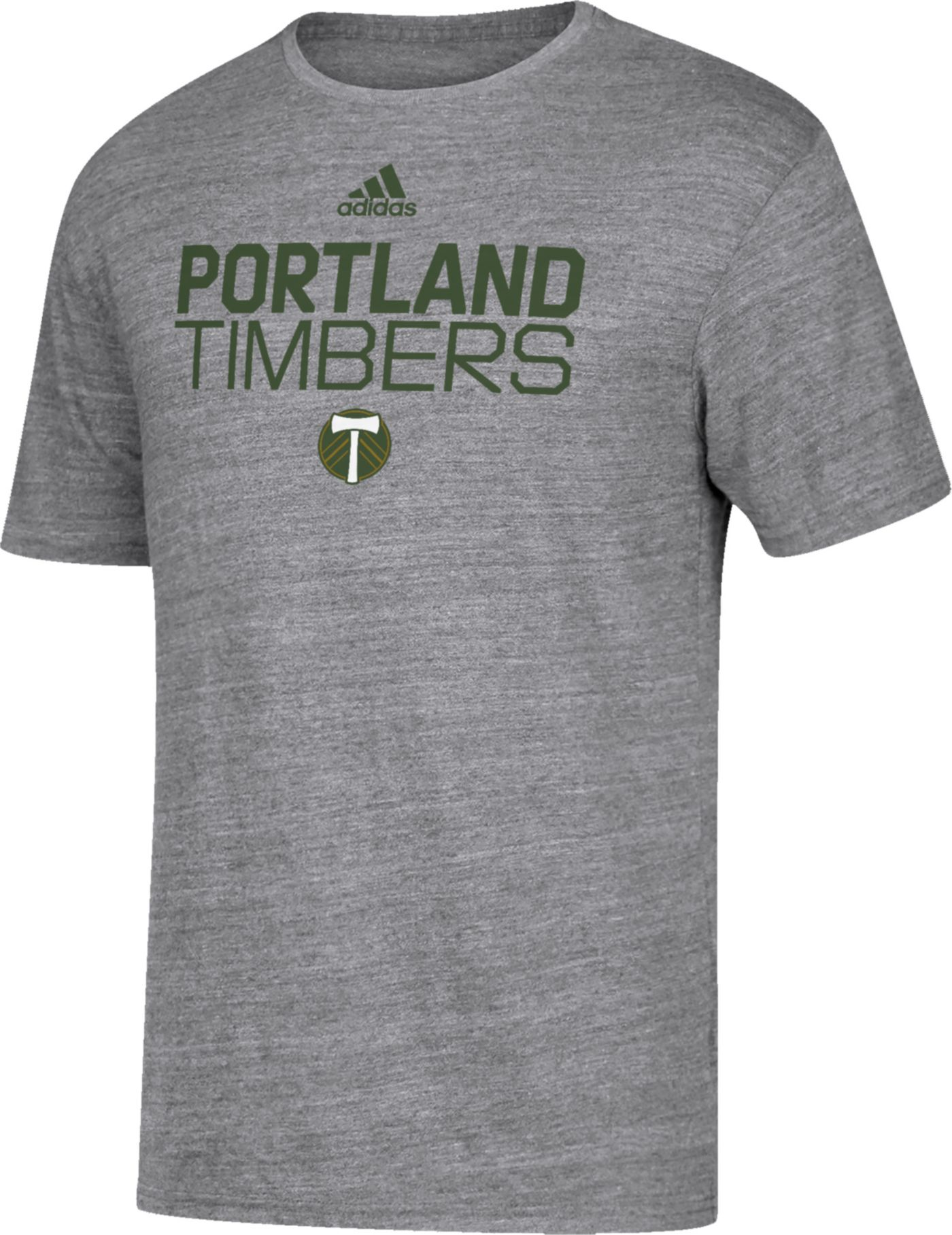adidas Men's Portland Timbers Locker Heather Grey Tri-Blend T-Shirt