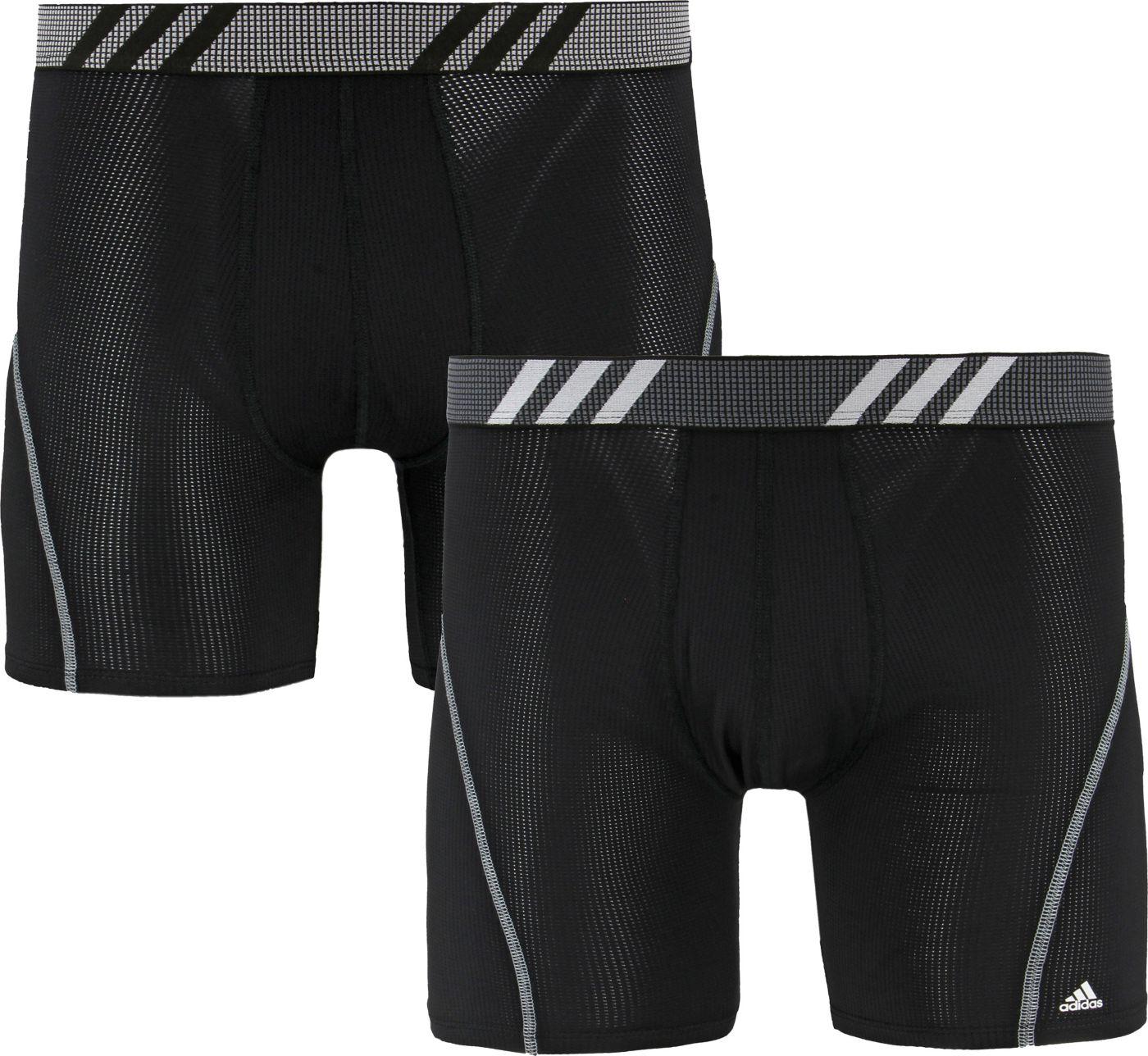adidas Men's Sport Performance Mesh Boxer Briefs – 2 Pack
