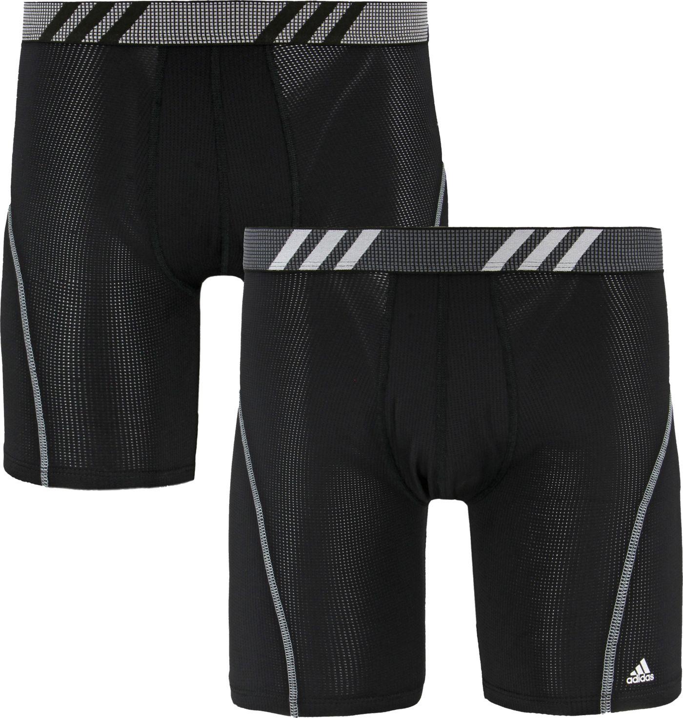 adidas Men's Sport Performance Mesh Midway Boxer Briefs – 2 Pack