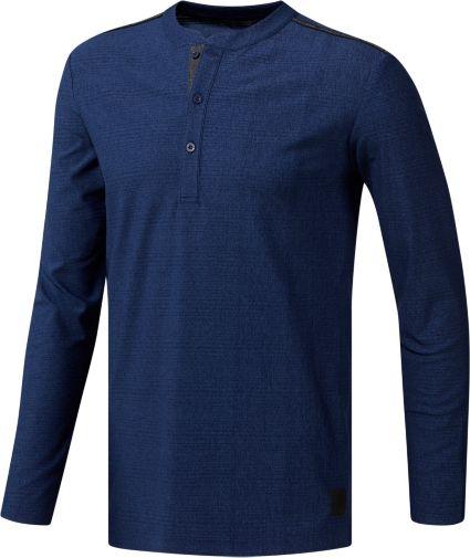 adidas Men's Long Sleeve Transition Henley Golf Shirt