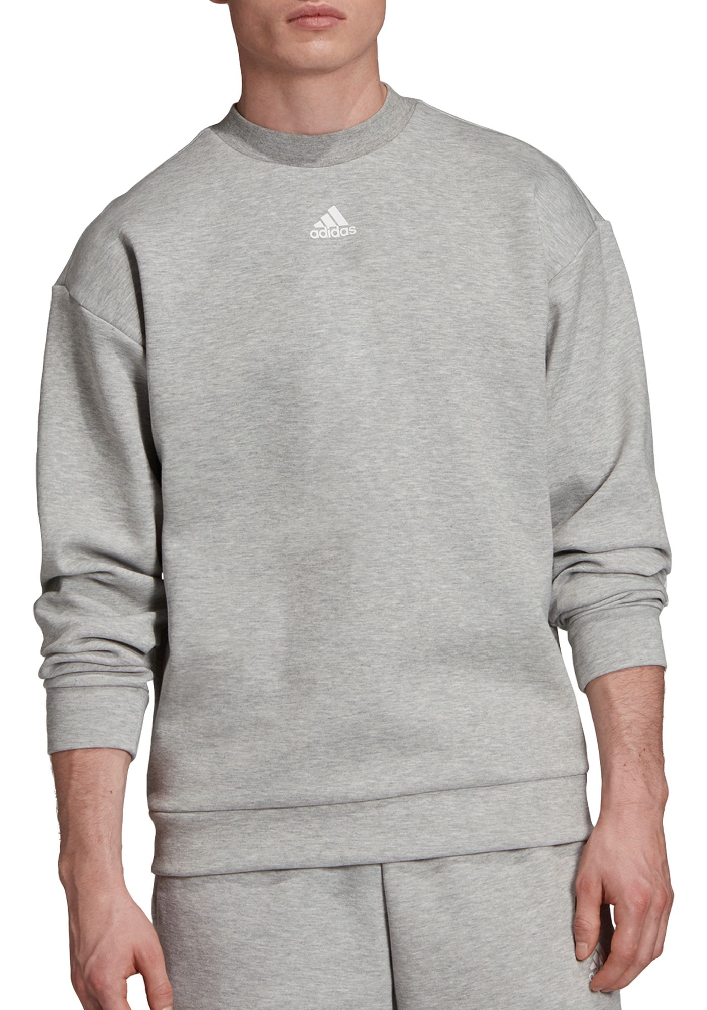 adidas Men's Must Haves 3-Stripes Crew Sweatshirt