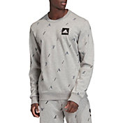 adidas Men's Graphic Pullover Crewneck Sweatshirt