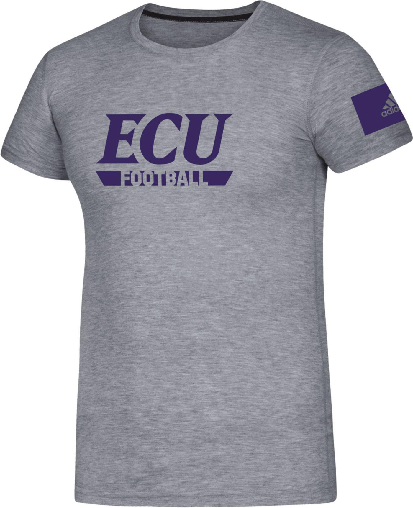adidas Men's East Carolina Pirates Grey Locker Practice Football T-Shirt