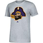adidas Men's East Carolina Pirates Grey Vault Logo T-Shirt