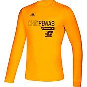 adidas Men's Central Michigan Chippewas Gold Creator Long Sleeve T-Shirt