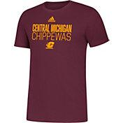 adidas Men's Central Michigan Chippewas Maroon Sideline Locker Stacked T-Shirt