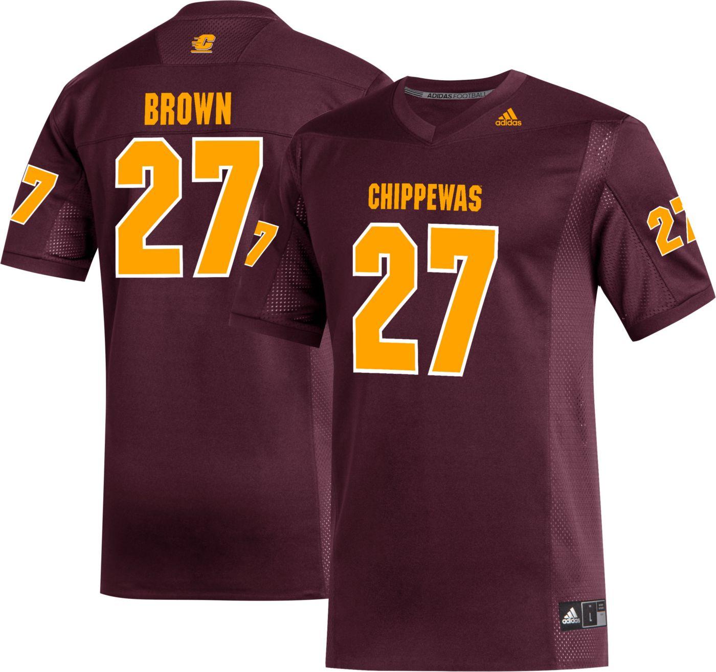 adidas Men's Antonio Brown Central Michigan Chippewas #27 Maroon Replica Football Jersey