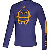 adidas Men's East Carolina Pirates Purple Locker Football Long Sleeve T-Shirt