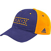 adidas Men's East Carolina Pirates Purple Slogan Adjustable Hat