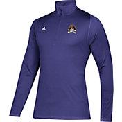 adidas Men's East Carolina Pirates Purple Sport Quarter-Zip Shirt