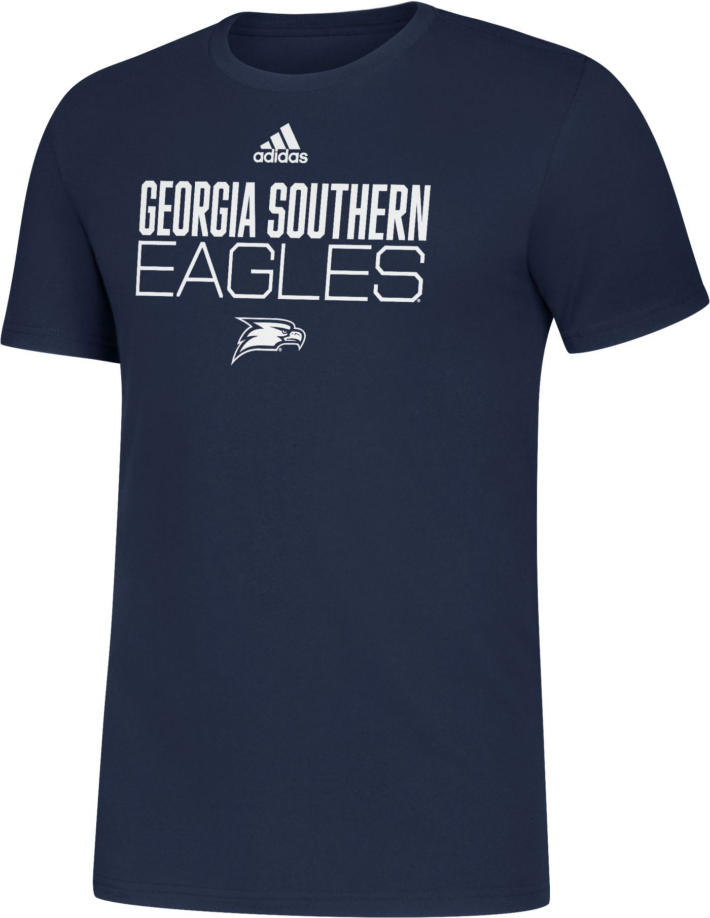 adidas Men's Georgia Southern Eagles Navy Sideline Locker Stacked T-Shirt