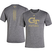 adidas Men's Georgia Tech Yellow Jackets Grey 'Cape Day' Football T-Shirt