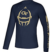 adidas Men's Georgia Tech Yellow Jackets Navy Locker Football Long Sleeve T-Shirt