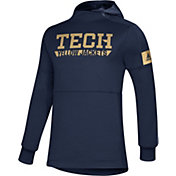adidas Men's Georgia Tech Yellow Jackets Navy Game Mode Sideline Pullover Hoodie