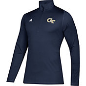 adidas Men's Georgia Tech Yellow Jackets Navy Sport Quarter-Zip Shirt