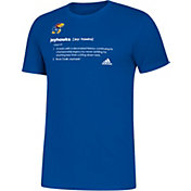 adidas Men's Kansas Jayhawks Blue Definition Amplifier T-Shirt
