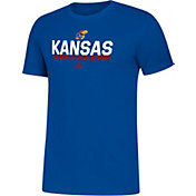 adidas Men's Kansas Jayhawks Blue Amplifier Basketball T-Shirt