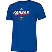 adidas Men's Kansas Jayhawks Blue Spray My Name T-Shirt