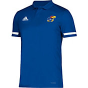 adidas Men's Kansas Jayhawks Blue Team 19 Sideline Football Polo