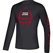 adidas Men's Louisiana-Lafayette Ragin' Cajuns Locker Football Long Sleeve Black T-Shirt