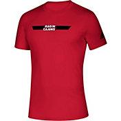 adidas Men's Louisiana-Lafayette Ragin' Cajuns Red Locker Stripe Sideline T-Shirt