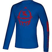 adidas Men's Louisiana Tech Bulldogs Blue Locker Football Long Sleeve T-Shirt