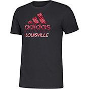 adidas Men's Louisville Cardinals Amplifier Basketball Black T-Shirt