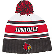 adidas Men's Louisville Cardinals Cuffed Pom Knit Black Beanie