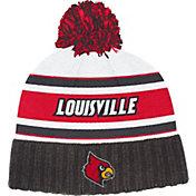 adidas Men's Louisville Cardinals Cuffed Pom Knit Black Beanie