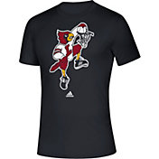 adidas Men's Louisville Cardinals 'Dunking Cardinal' Creator Basketball Black T-Shirt