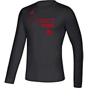 adidas Men's Louisville Cardinals Creator Long Sleeve Black T-Shirt