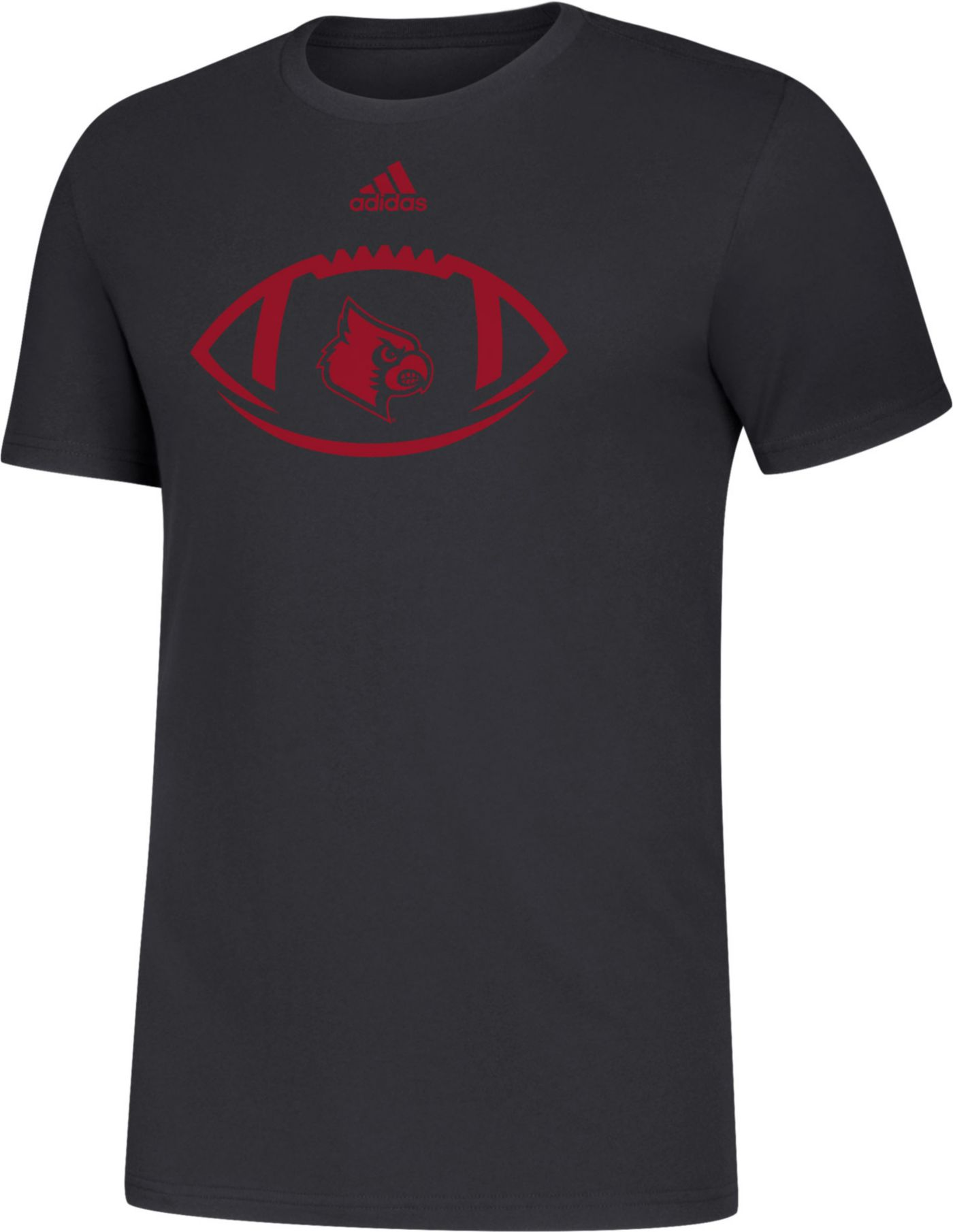 adidas Men's Louisville Cardinals Football Black T-Shirt