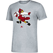 adidas Men's Louisville Cardinals Grey Vault Logo T-Shirt