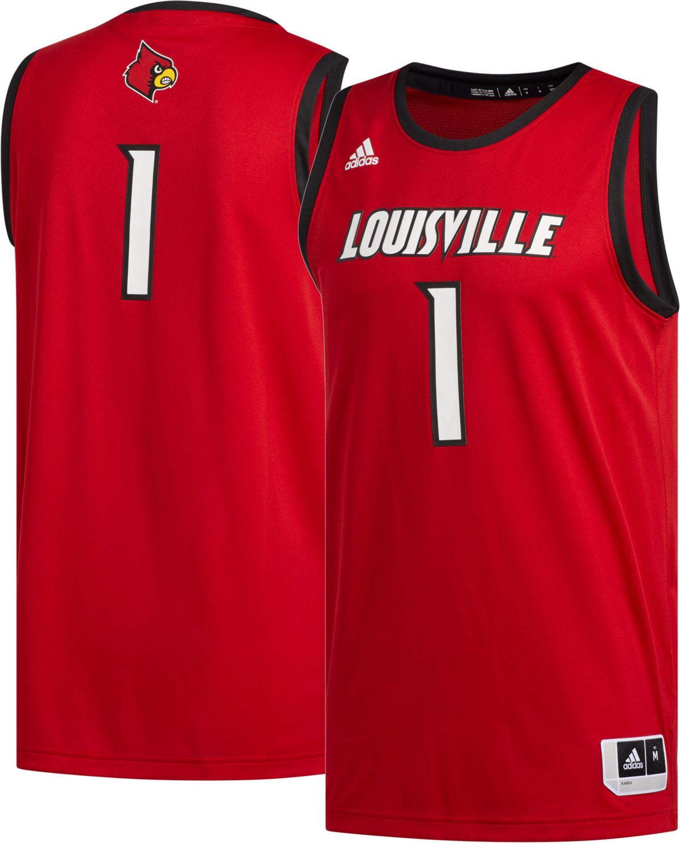 adidas Men's Louisville Cardinals #1 Cardinal Red Creator 365 Replica Basketball Jersey