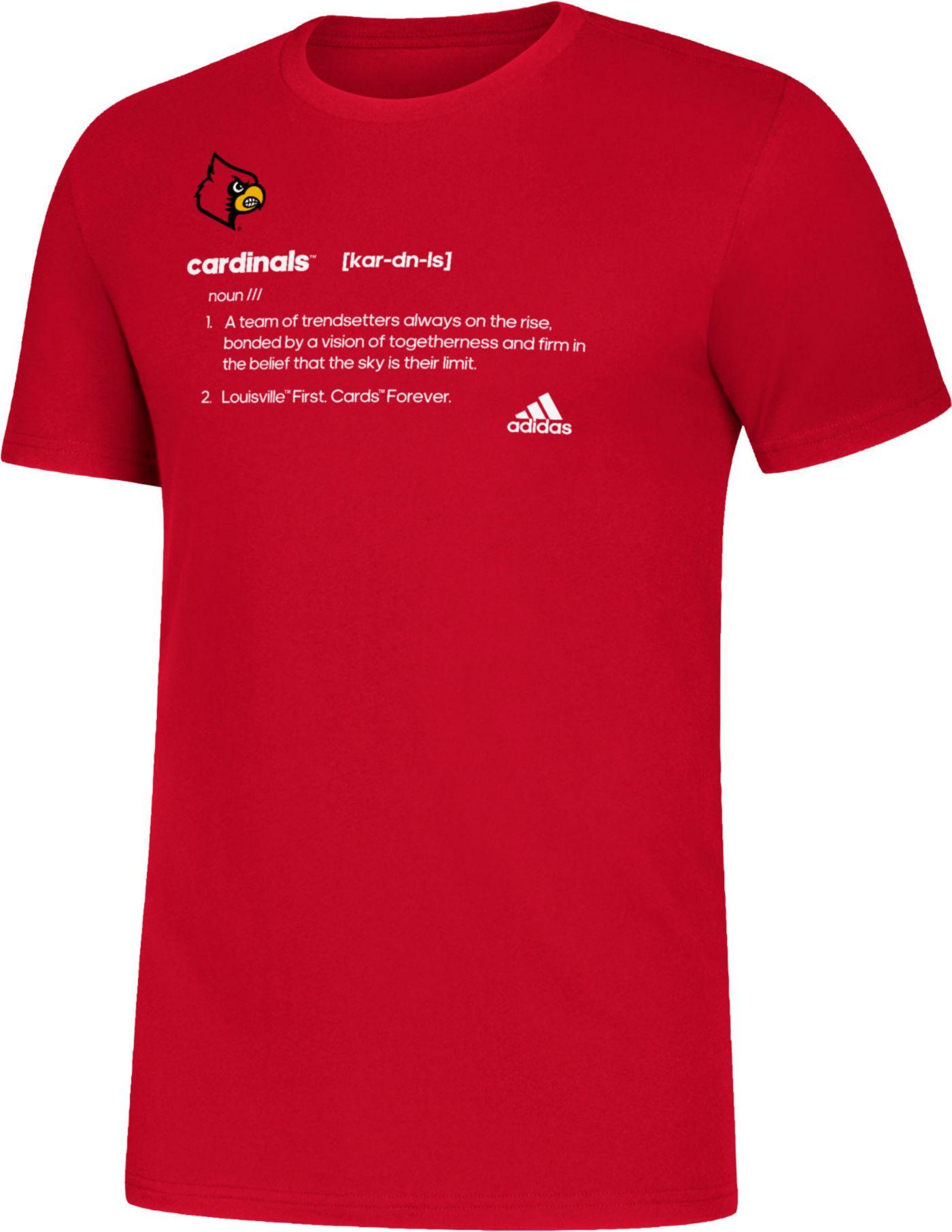 adidas Men's Louisville Cardinals Cardinal Red Definition Amplifier T-Shirt
