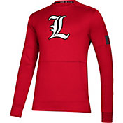 adidas Men's Louisville Cardinals Cardinal Red Game Mode Crew Sideline Sweatshirt