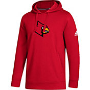 adidas Men's Louisville Cardinals Cardinal Red Logo Fleece Pullover Hoodie