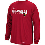 adidas Men's Louisville Cardinals Red Long Sleeve Performance Basketball T-Shirt
