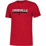 adidas Youth Louisville Cardinals Cardinal Red Amplifier Basketball T-Shirt