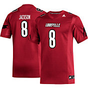 adidas Men's Lamar Jackson Louisville Cardinals #8 Cardinal Red Replica Football Jersey