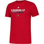 adidas Men's Louisville Cardinals Cardinal Red Spray My Name T-Shirt