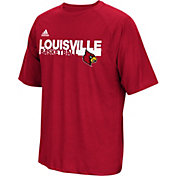 adidas Men's Louisville Cardinals Red Performance Basketball T-Shirt