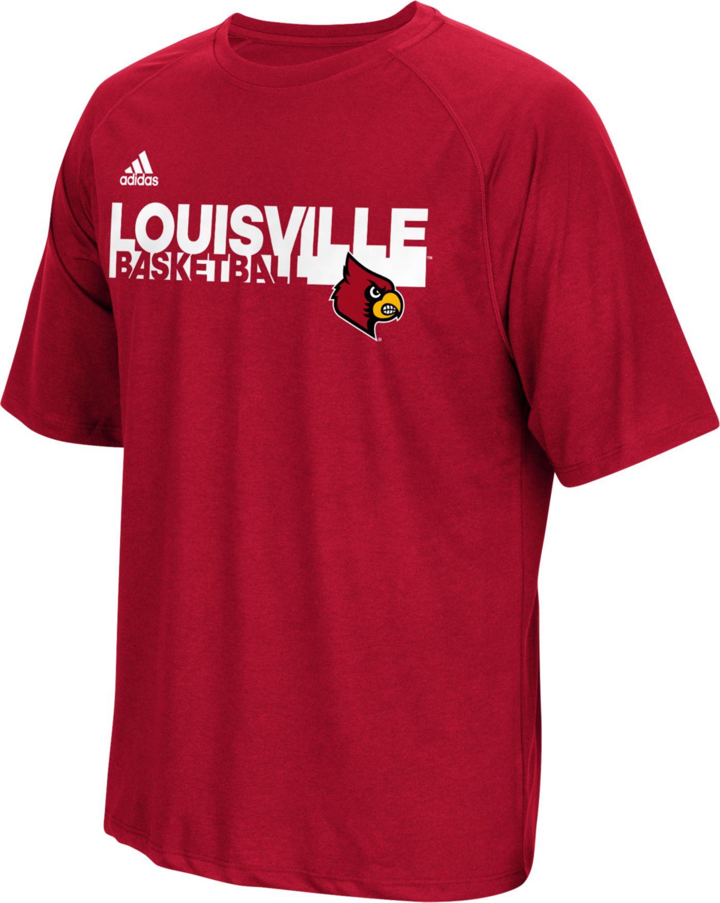 adidas Men's Louisville Cardinals Red Performance Basketball T-Shirt